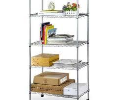 metal wire shelving closet creative get ations home kitchen garage wire shelving 5 shelf storage