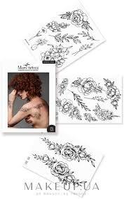 Makeup черные переводные тату Miami Tattoos Renaissance купить