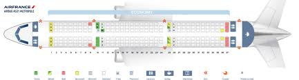 Seat Map Airbus A321 100 Air France Best Seats In Plane