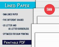 Lined Paper Pdf Impressive Lined Paper Printable44mm US Letter Lined Paper Printable Etsy