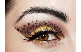 print eye makeup add a touch of wildness