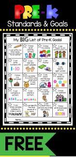 I Know Kit Chart Pre K Goals Chart Freebie Preschool Prep Kindergarten