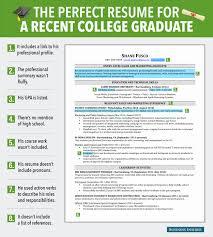 Examples Of College Graduate Resumes College Graduate Resume Examples New Excellent Resume For Recent 3
