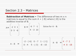section 2 3 matrices