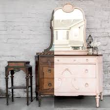 pink painted furniture. how to create the marbled look on a pink dresser painted furniture d