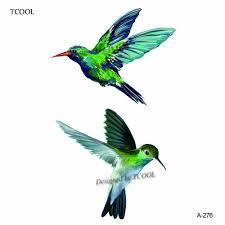 Tcool 12 шт птица колибри временные татуировки стикеры для для женщин мужской