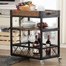 Image of: Wine Bar Cart Plan
