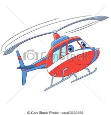 cartoon flying helicopter csp43434898