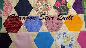 Hexagon Star Quilt - YouTube & Hexagon Star Quilt Adamdwight.com