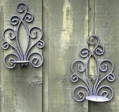 Rs 4,500/ piece get latest price. Vintage Wrought Iron Garden Decoration Curlicue Candle Wall Hanging Sconces Pair Ebay