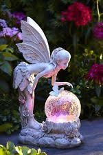 fairy garden statues. Garden Statue Fairy With Globe Solar Powered Lawn Ornaments Outdoor Patio Decor Statues