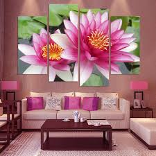 Paintings For Living Room Feng Shui Online Get Cheap Lotus Oil Painting Aliexpresscom Alibaba Group
