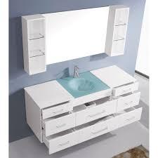 abodo  inch wall mounted single white bathroom vanity cabinet
