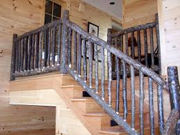 Our rustic railings made of hickory are crafted from the best materials,  which are sustainably harvested.