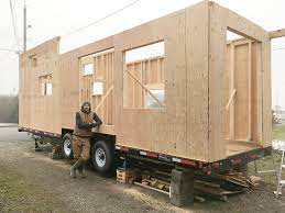 tiny houses. big project: tiny-house builder matt emig is currently designing and building his first home completely from scratch. construction taking place on a tiny houses