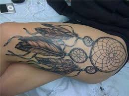Dream Catcher Tattoo On Thigh 100 Dreamcatcher Tattoo Designs for Women Art and Design 38