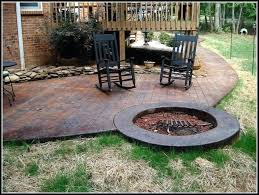stamped concrete patio with fire pit cost. Exellent Patio Concrete Patios With Fire Pits Stamped Patio Designs Pit   Inside Stamped Concrete Patio With Fire Pit Cost E