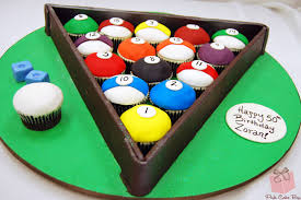 billiards cupcakes for 50th birthday