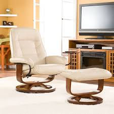 appealing glider recliner with ottoman with bonded leather birch u base swivel glider reclining chair with