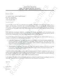 High School Principal Cover Letter Vice Principal Cover Letter