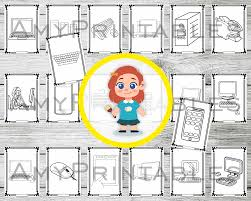 Free printable coloring pages for children that you can print out and color. Computer Technology 20 Preschool Coloring Pages Pdf Digital Download A4 20 Pages And 20 Mazes To Print Amyprintables