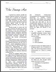 stamp act worksheet worksheets last added