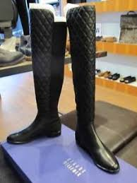 STUART WEITZMAN QUILTBOOT BLACK QUILTED LEATHER OVER THE KNEE HIGH ... & Image is loading STUART-WEITZMAN-QUILTBOOT-BLACK-QUILTED-LEATHER-OVER-THE- Adamdwight.com