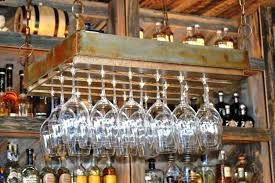 hanging wine glass racks for rack uk