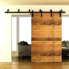 barn door track kit 9 ft barn door 5 byp sliding hardware double rustic black track barn door