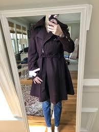 catherine malandrino fit flare coat