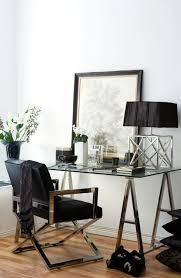 glass top office table chic. Office Space Of The Day...desk Styling. Glass Top Table Chic C