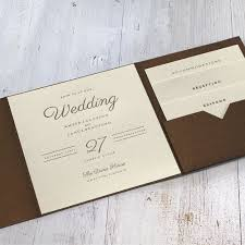 Wedding Invitation Folder Modern Sophistication Pocket Invitation Fall Wedding In