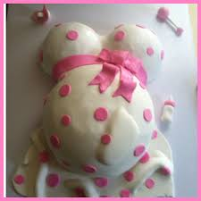 Baby Bump Cake For Girl Baby Shower CakeCentral