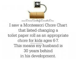 I Saw A Montessori Chore Chart That Listed Changing A Toilet