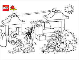 Small Picture Lego Zoo coloring page Free Printable Coloring Pages