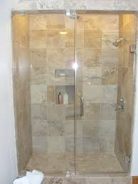 chic tile shower with shower shelf and bathroom fixture for bathtub shower combo ideas and glass door