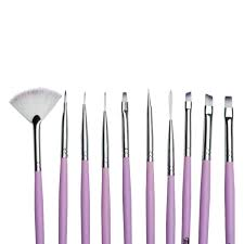 Twinkled T Cotton Dandy Nail Art 10 Pc Brush Set | Twinkled T | $8