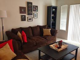... Living Room, Brown Sofas And Red Walls Red And Brown Living Room  Interior Design: ...