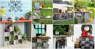 cinder block furniture. Fine Furniture DIY Cinder Block Bar Ideas For Your Outdoor Entertainment Throughout Furniture