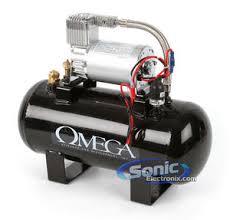 omega ac 1 5 12v 1 5 gallon air compressor sonic electronix omega ac 1 5