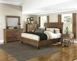 Magnussen Furniture River Ridge Island Bedroom Set With Storage Footboard  In Distressed Natural