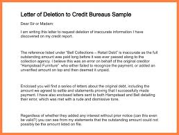 collection agency remove from credit report letter of deletion to credit bureaus sample 179 2