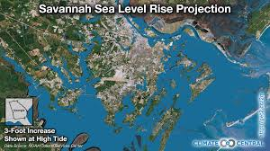 Savannah Sea Level Rise Projection Climate Central