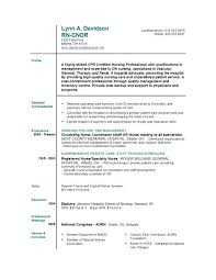 Nursing Resume Templates Free New Graduate Nurse Resume Registered Nurse Resume Objectives ...