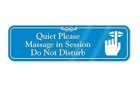 Massage In Session Sign For Door Printable Progress Vishnutej