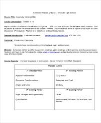 Syllabus Template High School Syllabus Template 7 Free Word Documents Download Free