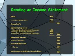 Components Of An Income Statement Stunning Income Statement Balance Sheet