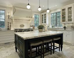 Beautiful kitchen island with stone counter