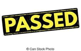 「passed」の画像検索結果