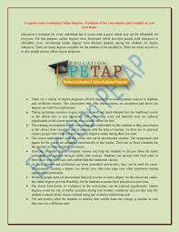computer and accounting online degrees by educationpetap issuu